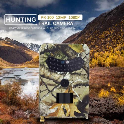 Trail Camera Video Wildlife Infrarot Nachtsicht Wasserfest Set 1080P 12MP HD