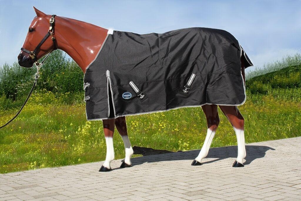 Tough Horse turnout lluvia manta para caballos 1200d negro 135 o.145cm