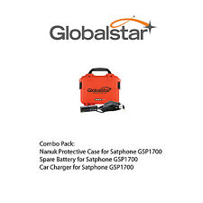 Globalstar Accessory Bundle for GSP1700 Satphone - CASE, BATTERY, CAR CHARGER