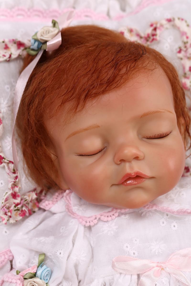 16  Realista Suave Silicona todddler Rebornbabys niña pelo rizado recién nacido bebe