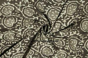 5//10 Yard Indian Paisley Print Hand Block Print Cotton Fabric Dressmaking Sewing
