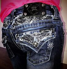 Miss Me {Crystal Stud Boot} Jeans Sz 25x33. Hot!
