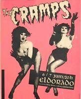 "2.5x3"" Vintage 1980's THE CRAMPS @ the Eldorado Punk Rock Flyer Sticker / decal"