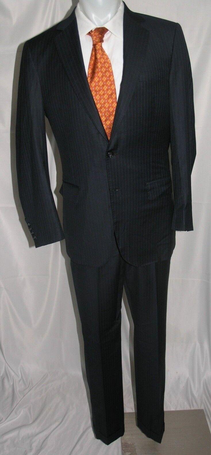 Bhambi's Two Button Flat Bespoke Suit 42 L 34 x 32