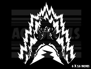 Dragon Ball Z Power Up Goku Japanese Anime Vinyl Decal