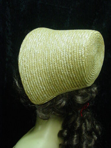 Womens Girls Straw Cottage Bonnet mid 19th century Vintage style one size