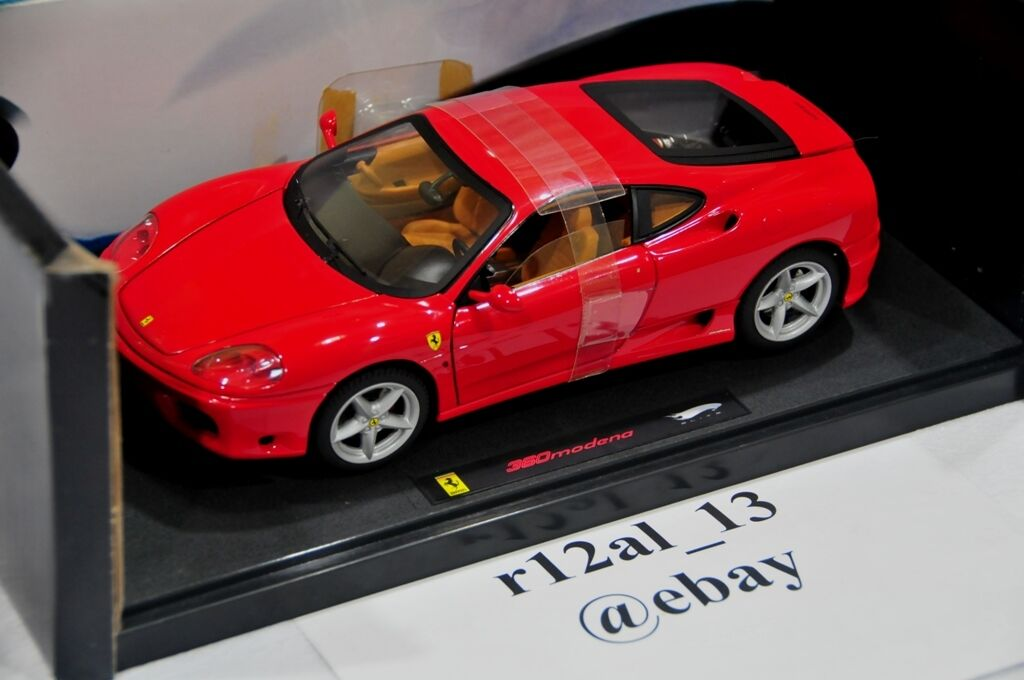 100% autentico Hot Wheels Elite 1 18 Ferrari 360 F360 Rojo Rojo Rojo N2051  descuento de ventas