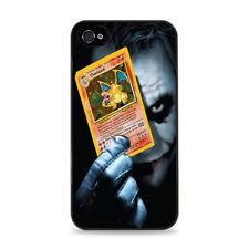 Joker Holding A Chaizard  Apple iPhone 4 /  4S  Cell Phone Case - Black