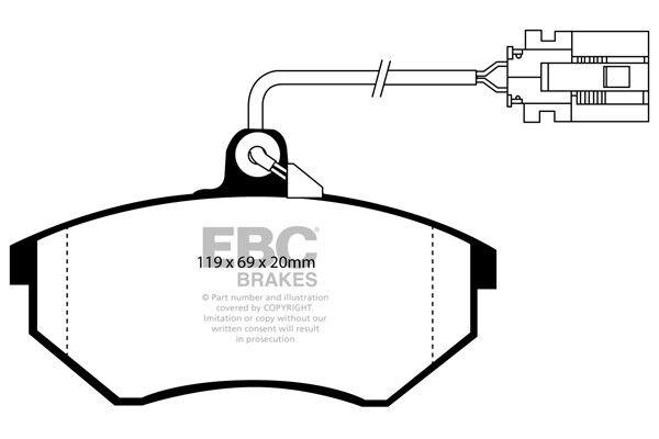 EBC Ultimax Front Brake Pads for VW Golf Mk3 2.0 GTi 8v (115 BHP) (92 > 96)