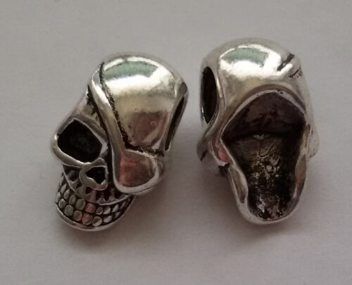 15 unidades Skull set 11 beads grande agujero perlas Paracord Lanyard pulsera calavera