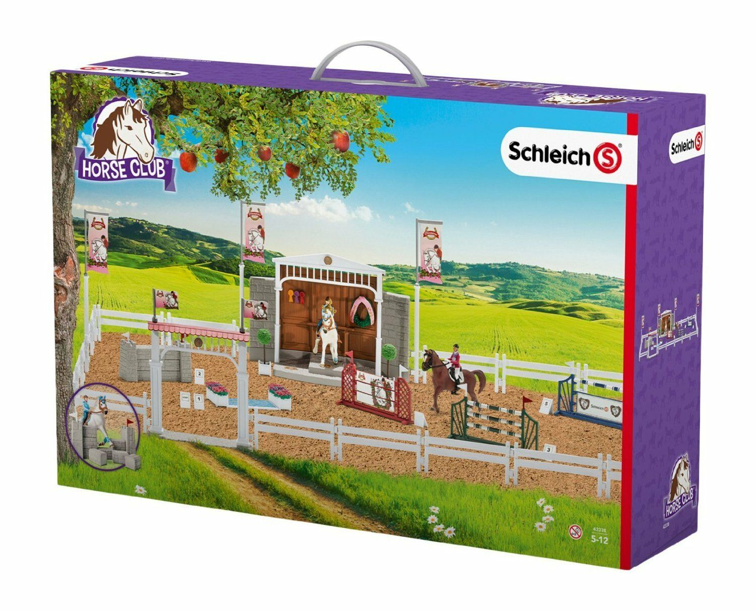 Schleich 42338 Big Horse Horse Horse Show Expanded Tournament Horse Club Play Set Stable e486ef