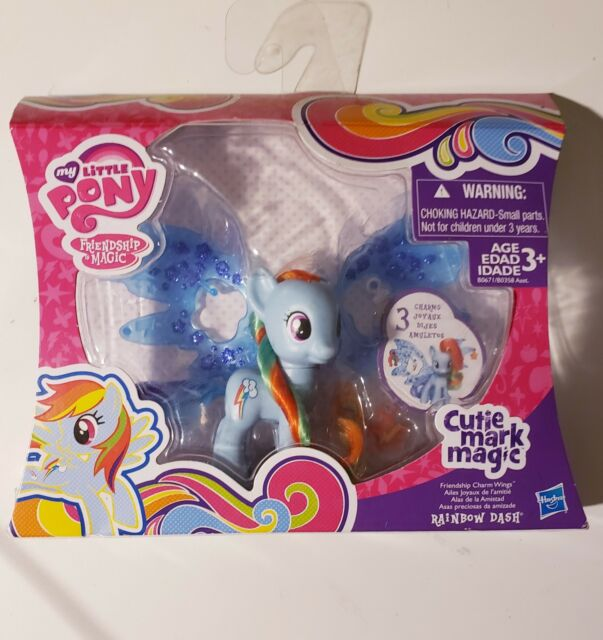 My Little Pony Cutie Mark Magic Friendship Charm Wings Rainbow Dash Figure B0671AS0
