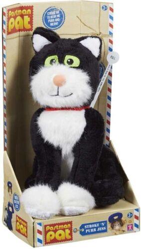 Postman Pat Stroke n Purr Jess the Cat Plush Soft Touch Sensitive Jouet avec Son