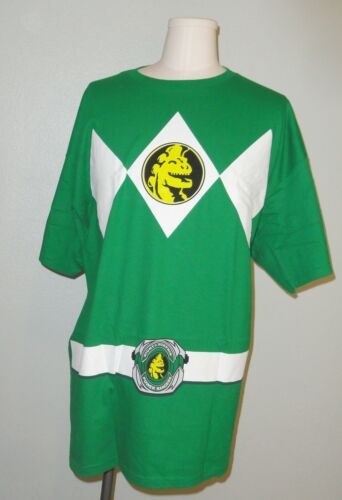 OFFICIALLY LICENSED GREEN POWER RANGERS costume t-shirt tee 2XL XXL CLOSEOUT