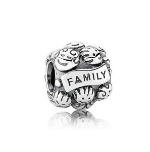 Family Roots Mum Dad  Daughter Solid 925 Sterling Silver Charm Bead European