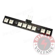 2 PCS Matek LED Light Strip Board RGB WS2812B 7 Color w/ MCU for FPV Quad Drone