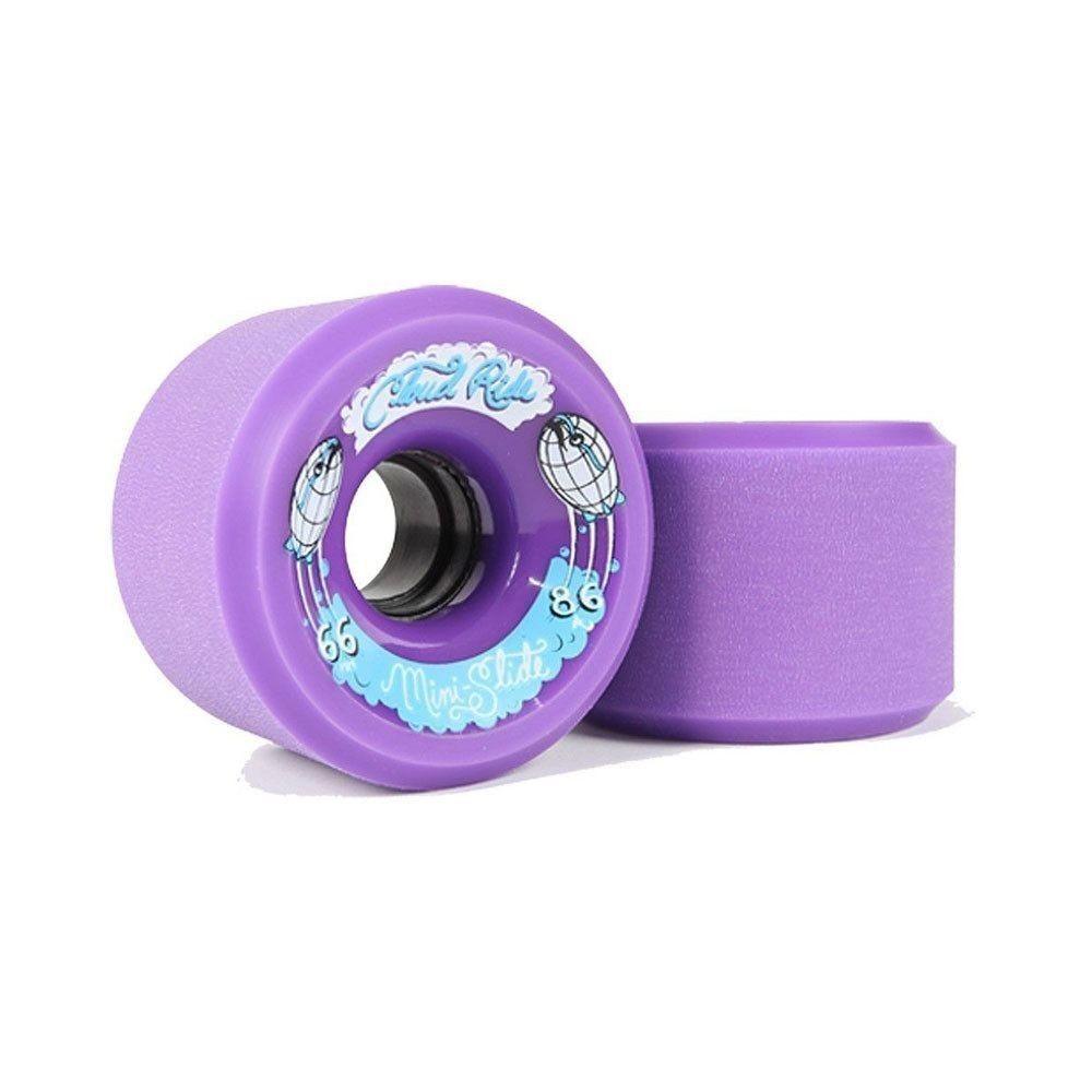 Longboard wheels (set 4). Ruedas Cloud Ride Wheels Mini Slide púrpura 86a   66 MM