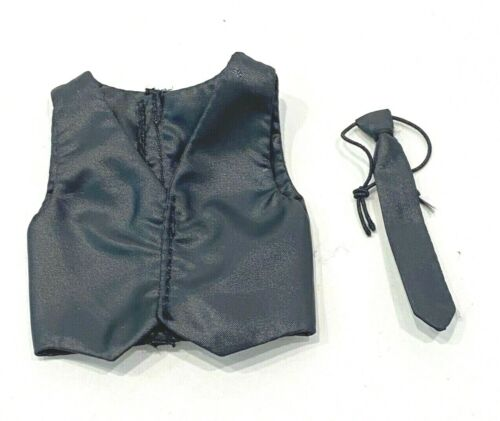 1//12 black vest and tie for Mezco Joker Gomez Body No Figure SU-VT-MZJ-BK
