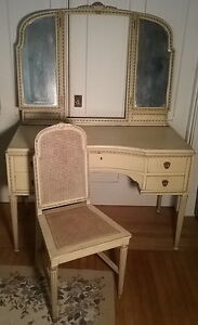 Image Is Loading French Provincial 1920 039 S Ladies Dressing Table