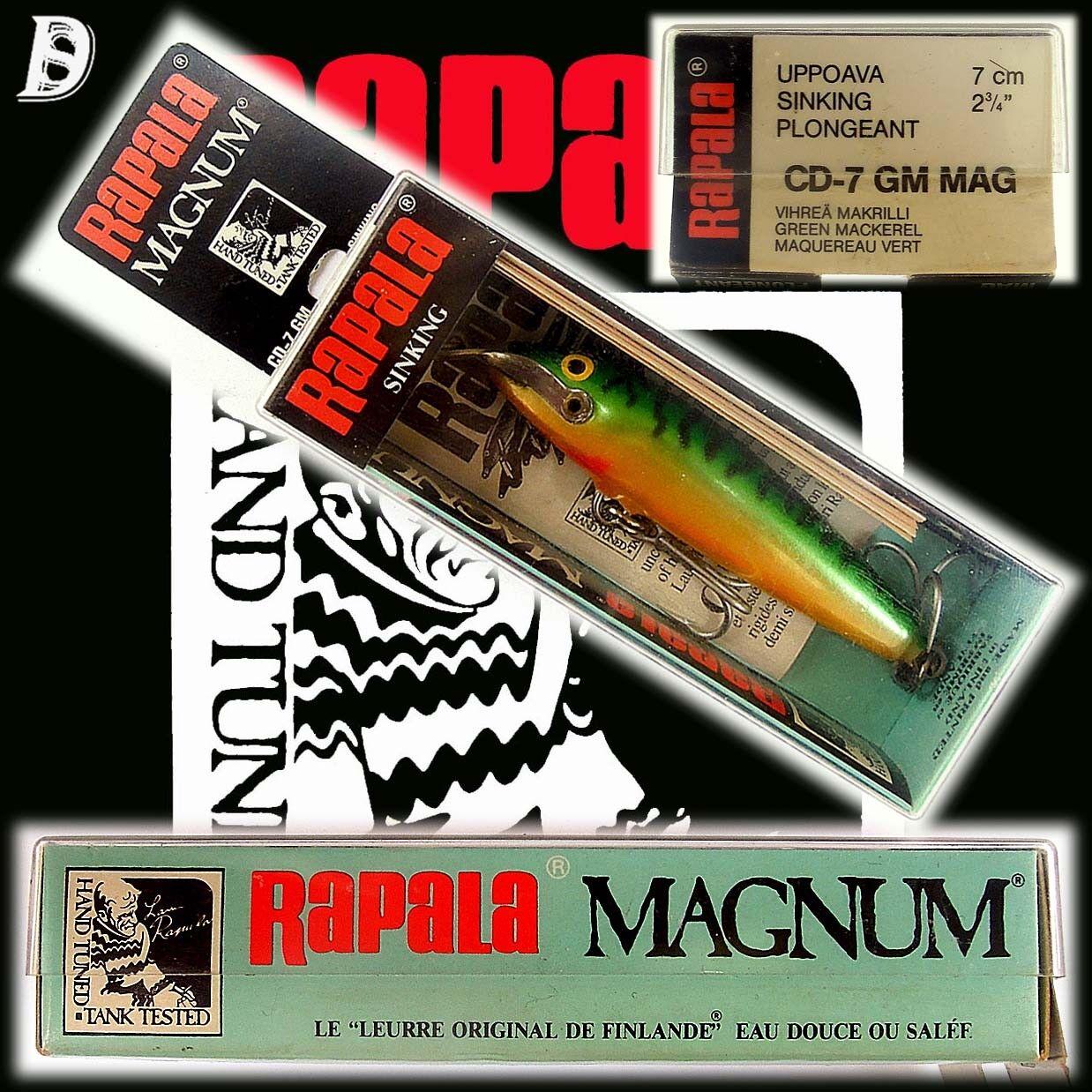 Vintage Rapala Magnum Countdown 7cm 7cm 7cm GM NEU&OVP alte Herstellung aus Finnland 6a6dbc