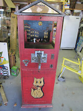 """VINTAGE COIN OPERATED """" SHOOT THE PUSSY """" TARGET SHOOTING  ARCADE GAME"""