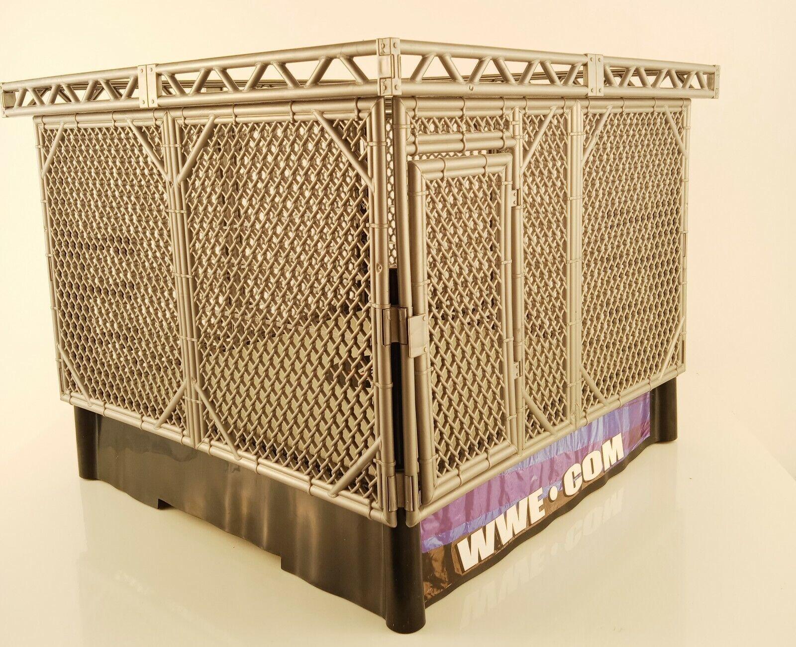 GABBIA D'ACCIAIO WWE SMACKDOWN springloaded Wrestling Ring 2010 Mattel