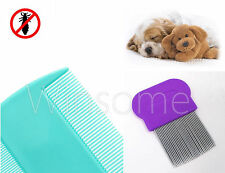 Pet Dog Cat Puppy Kitten Flea Comb Set Groom Brush Paws Head Tail Hair Fur Care