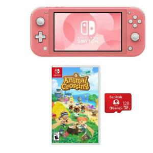 Nintendo Switch Lite, Coral With Animal Crossing New ...