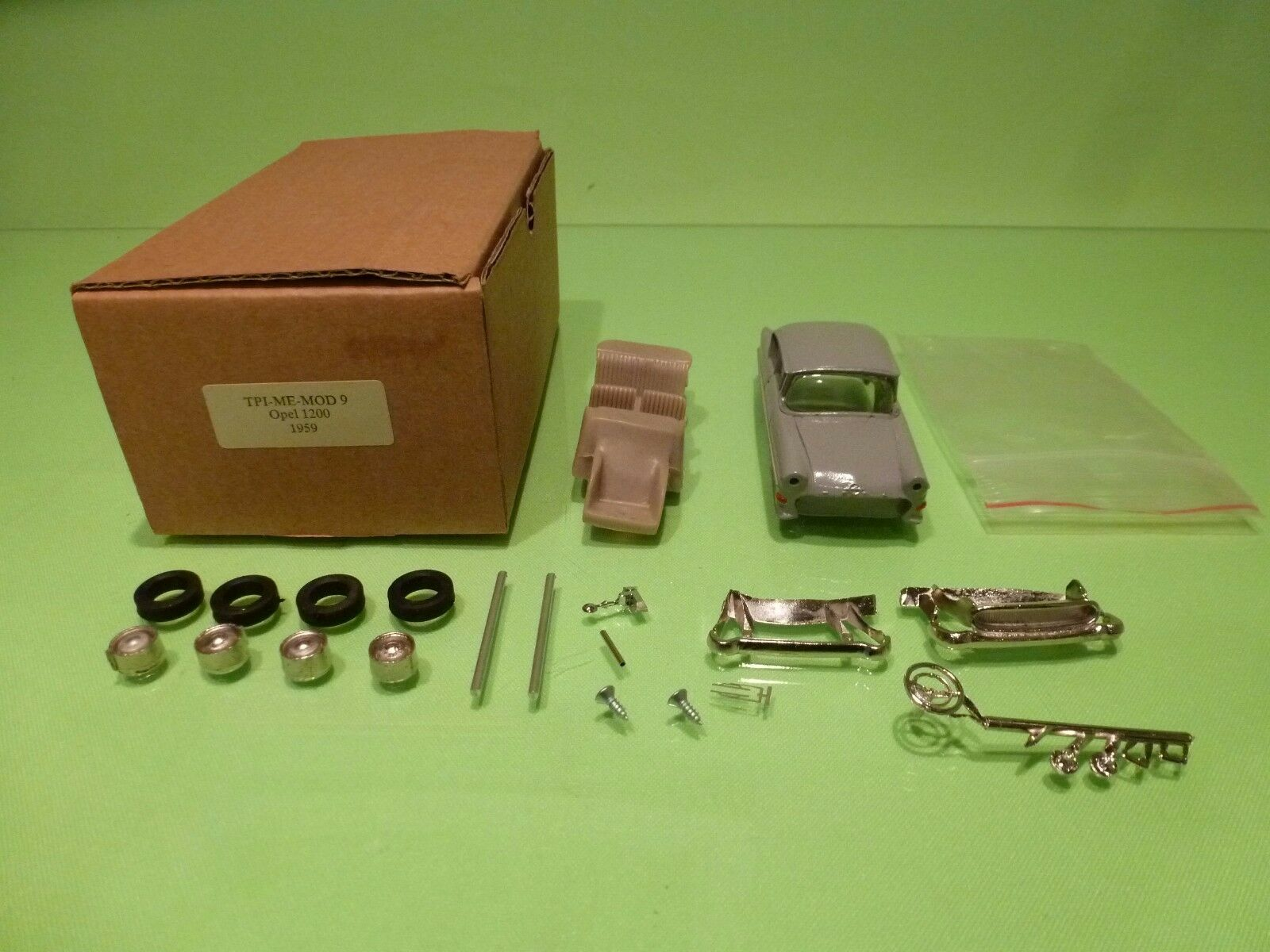 TPI ME MOD 9 PARTLY BUILT KIT  OPEL 1200 1959  - GREY 1 43 - NICE IN BOX