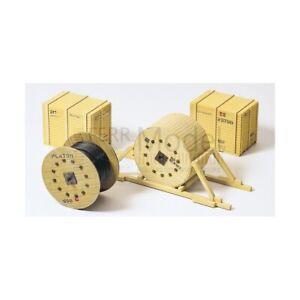 PREISER-17114-Bobine-in-legno-per-cavo-elettrico-con-casse-per-carichi-carro