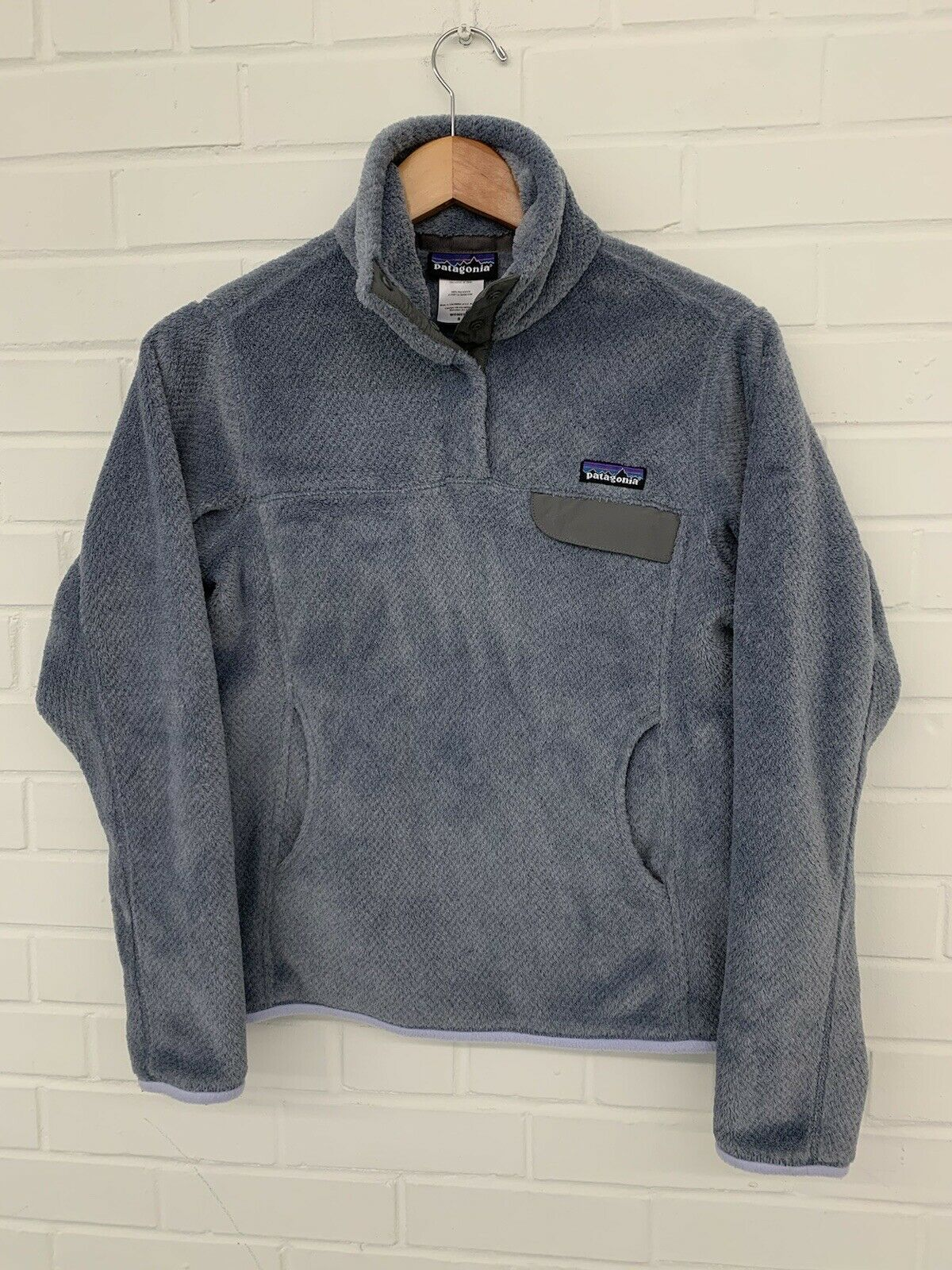Patagonia Women's Re-Tool Snap-T Fleece Pullover POLARTEC Purple Size Small
