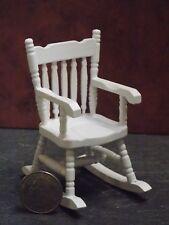Dollhouse Miniature Rocker Rocking Chair Walnut 1:12 in scale N73 Dollys Gallery