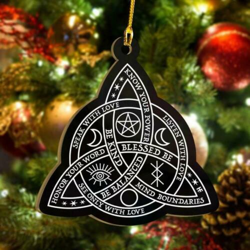 Celtic Knot Wicca Be Balanced See Only With Love Know Your Power Ornament