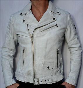 Mens leather jacket white – New Fashion Photo Blog