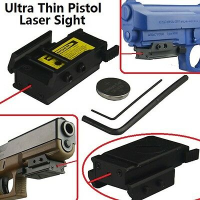 Ultra Thin Red Laser Sight Tactical For Picatinny Weaver Rail Mount Pisto