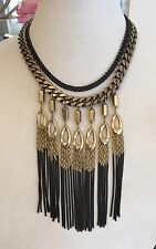 Authentic Stella And Dot Lilith Fringe Necklace