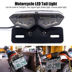 Motorrad-Quad-LED-Ruecklicht-Blinker-Bremslicht-Heckleuchte-Nummernschild-Lampe