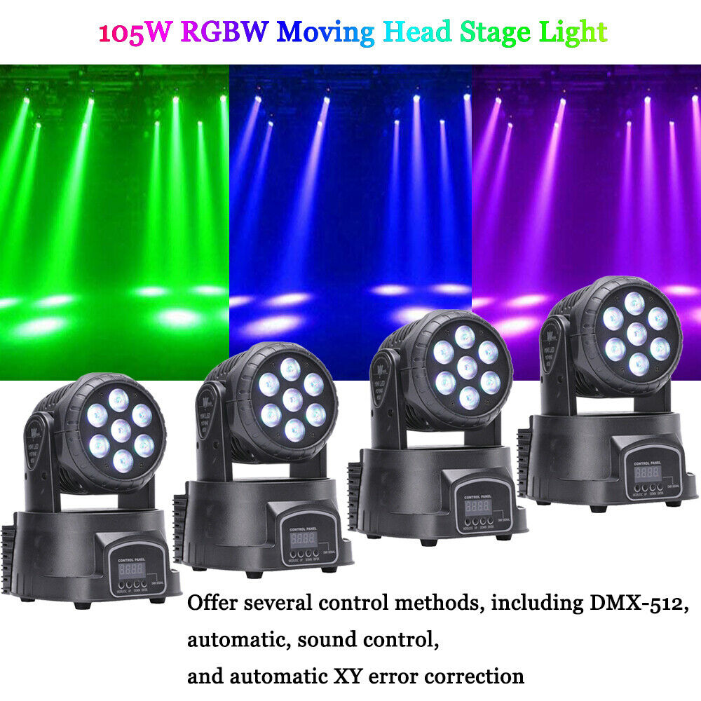 Details About U King Hot Professional Led Stage Lighting 4 105w Rgbw Moving Head