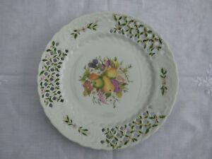 Livraison Rapide Assiette Ajouree En Porcelaine A Decor De Fruits Et Feuillages