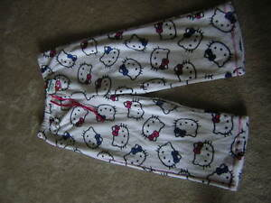 4f00eaea0 Hello Kitty Yoga Pants Capris Women's Size Large White NEW/NWT | eBay