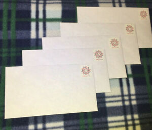 5 pre FOREVER stamped # 6 3/4 envelopes. GREAT BUY ! FAST FREE SHIPPING !! USA