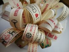 Natural Charms Christmas Ribbon Bundle 8 X 1Mtr Made from Berisfords Ribbons