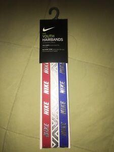 Nike-Youth-Headbands-Girls-Metallic-3-Pack-Red-white-Blue