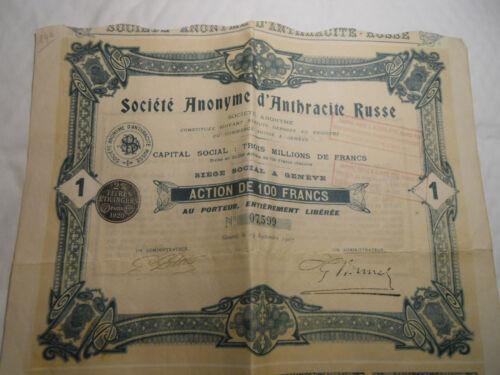 1907 SOCIETE ANTHRACITE RUSSE @ SUP DECO  @ RUSSIE