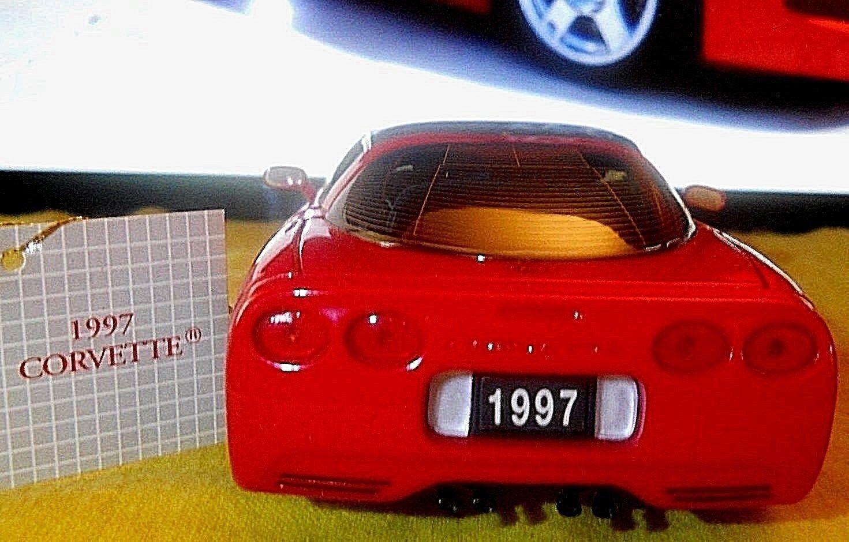 Franklin mint Corvette 1997 Rojo 1 24 Diecast Coche bien detallada