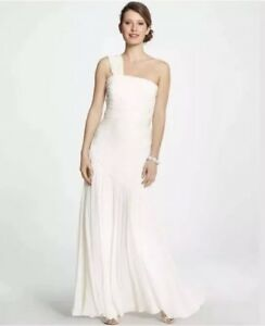Silk One Shoulder Wedding Dress