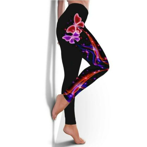 Femmes Course Fitness Leggings Exercice Gym SPORTS Pantalon TAILLE S-XL New
