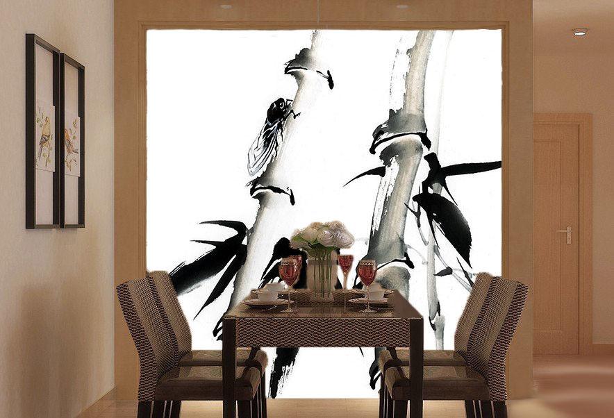 3D Bamboo Paint 92 Wallpaper Mural Paper Wall Print Wallpaper Murals UK Lemon