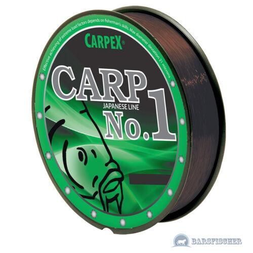 1 monofils carpes ficelle marron 300 m FIL DE PÊCHE Carpex Carp No motif pêche NEUF
