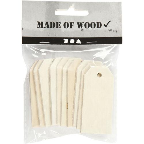 Etiqueta de Regalo de Madera Etiquetas de regalo de madera Paquete de 10 Navidad Boda Tarros etiquetas Pirograbado